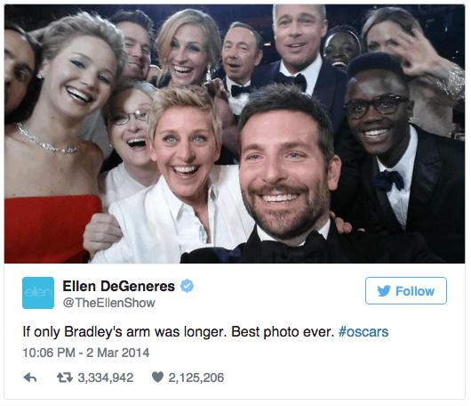 Twitter - Retweets Ellen