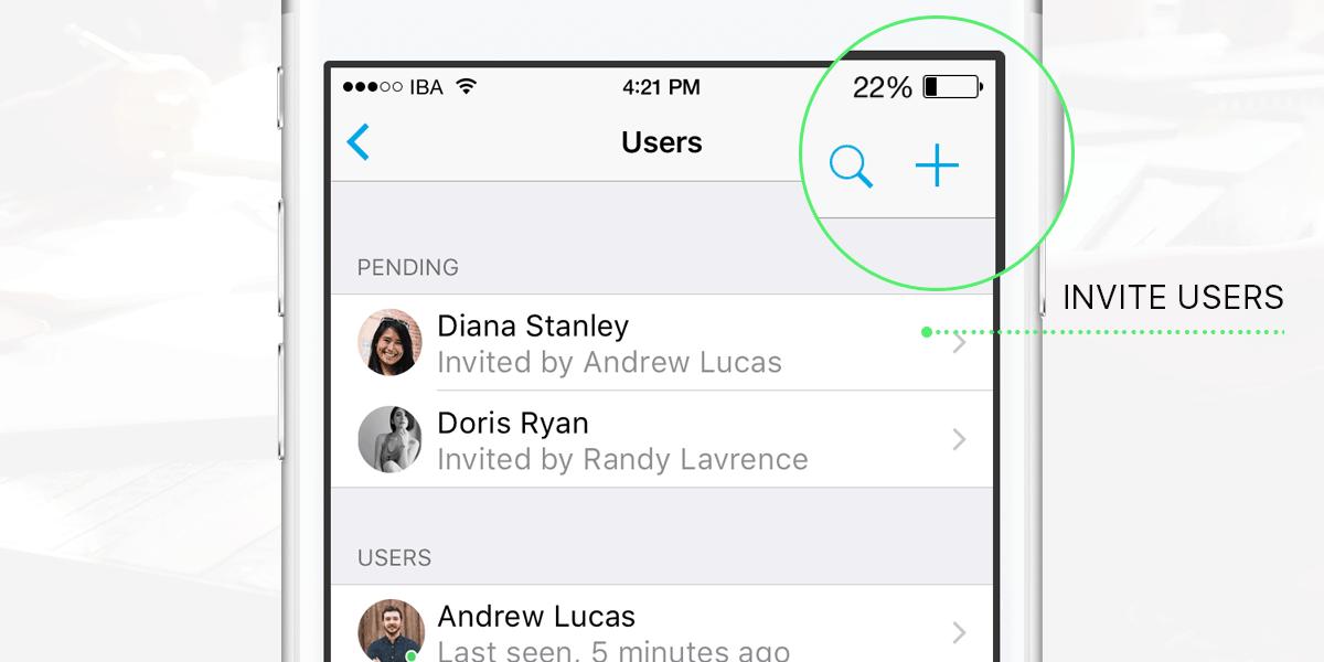 Invite users