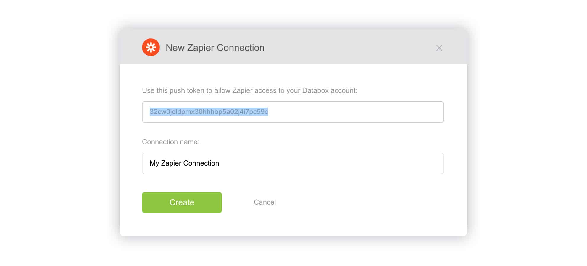 New Zapier connection