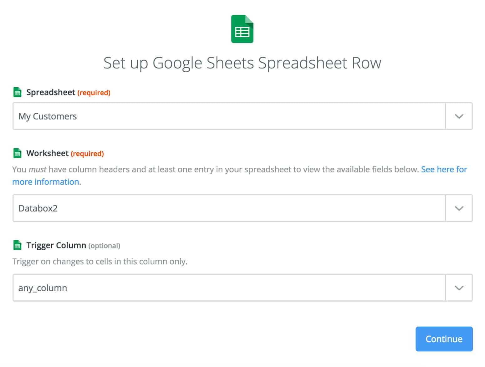 Google Sheets with Zapier