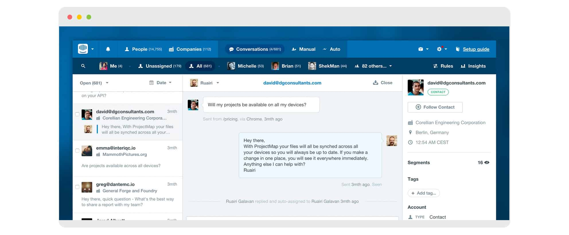 Intercom Screenshot