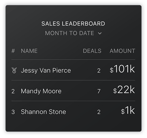 HubSpot Sales Leaderboard
