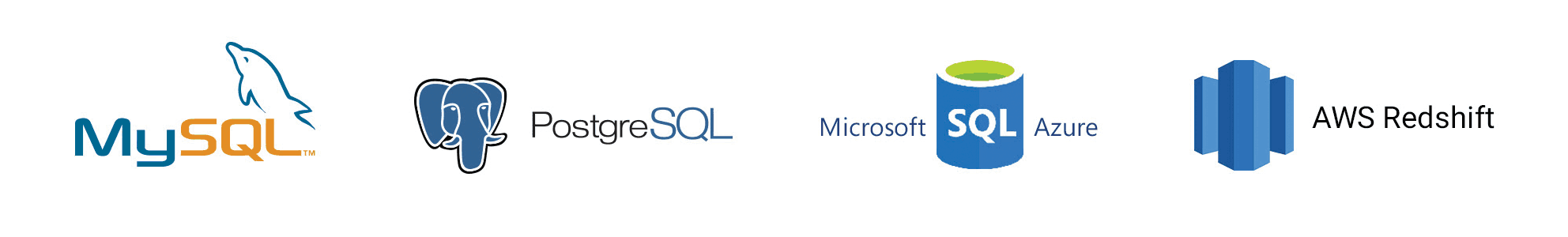 Supported SQL Databases in Databox