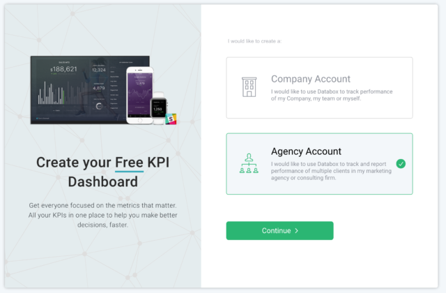 Sign up for a Databox agency account here