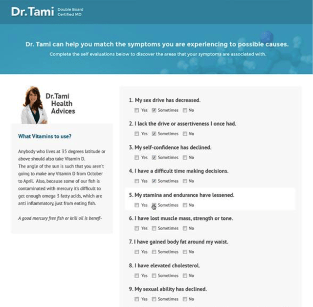 dr tami quiz screenshot