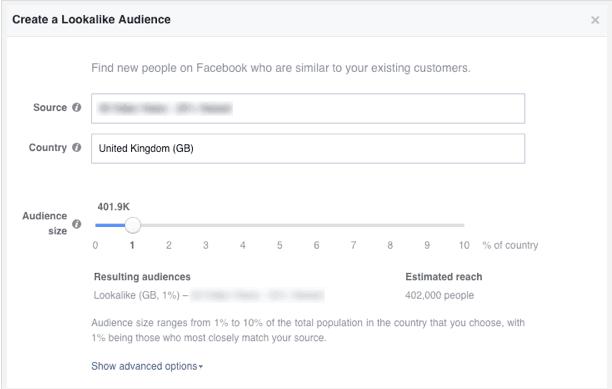 facebook targeting lookalike