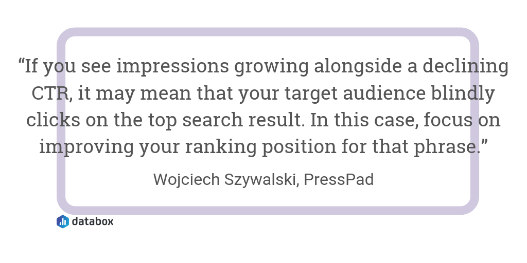 How to Improve Click-Through Rates quote from PressPad