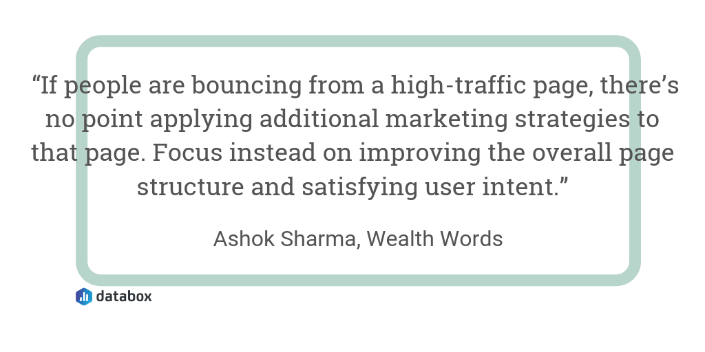 SEO KPIs quote from Wealth Words