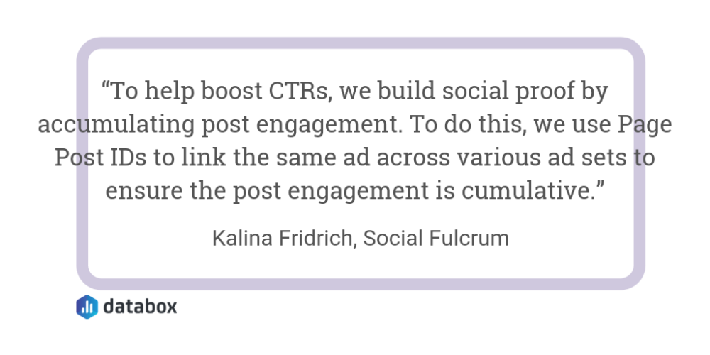 tip to improve Facebook Ads CTR