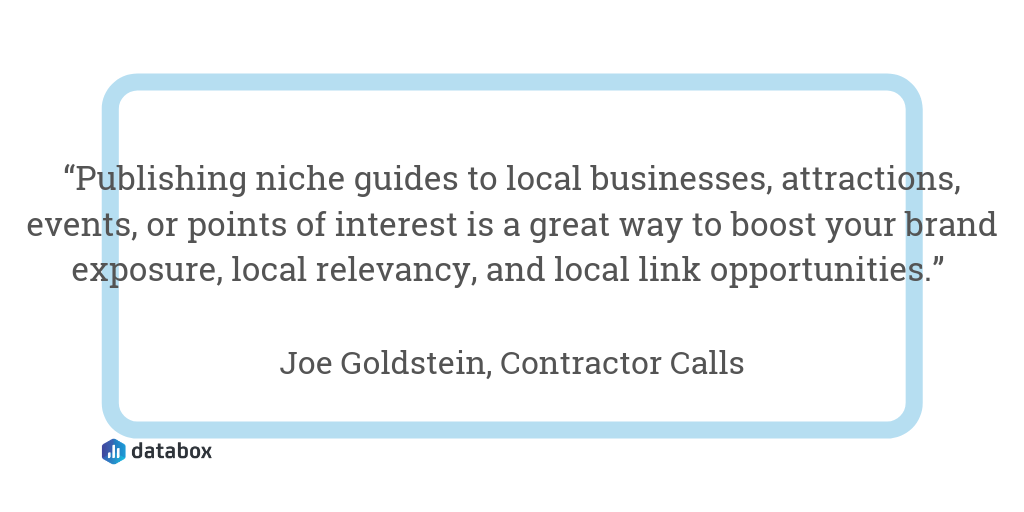 Create Content About Your Services, Products, City, Etc.
