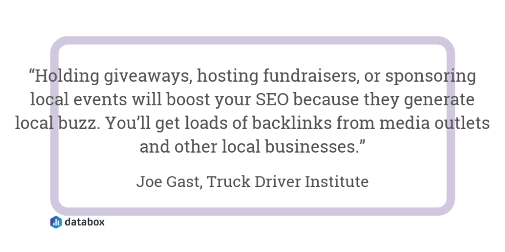 Get Backlinks From Other Local Businesses