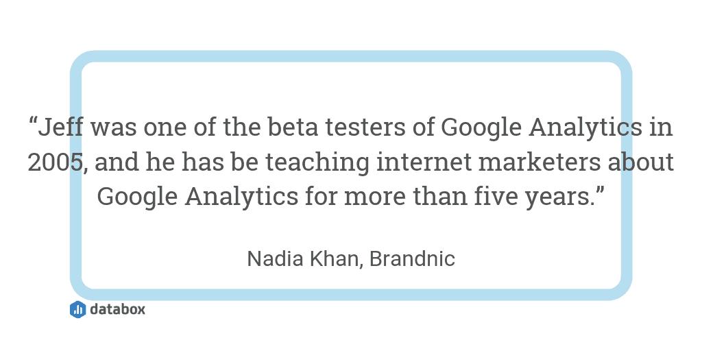 Google Analytics training courses quote
