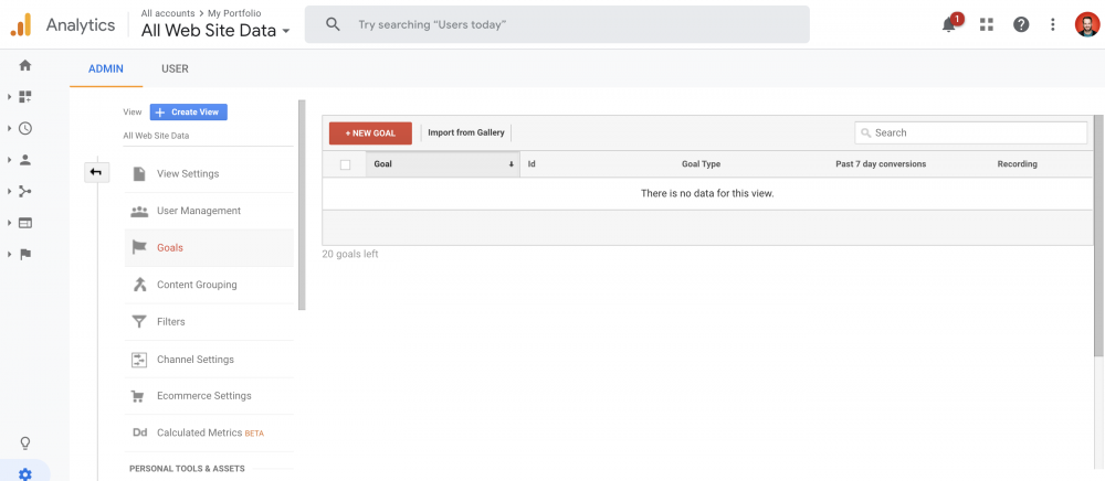 How to Set Up Conversion Tracking in Google Analytics - step 2