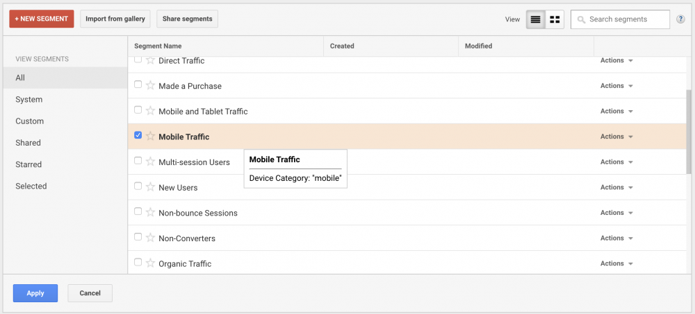 track mobile traffic google analytics