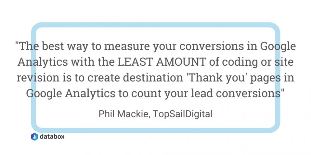 GA conversion tracking quote