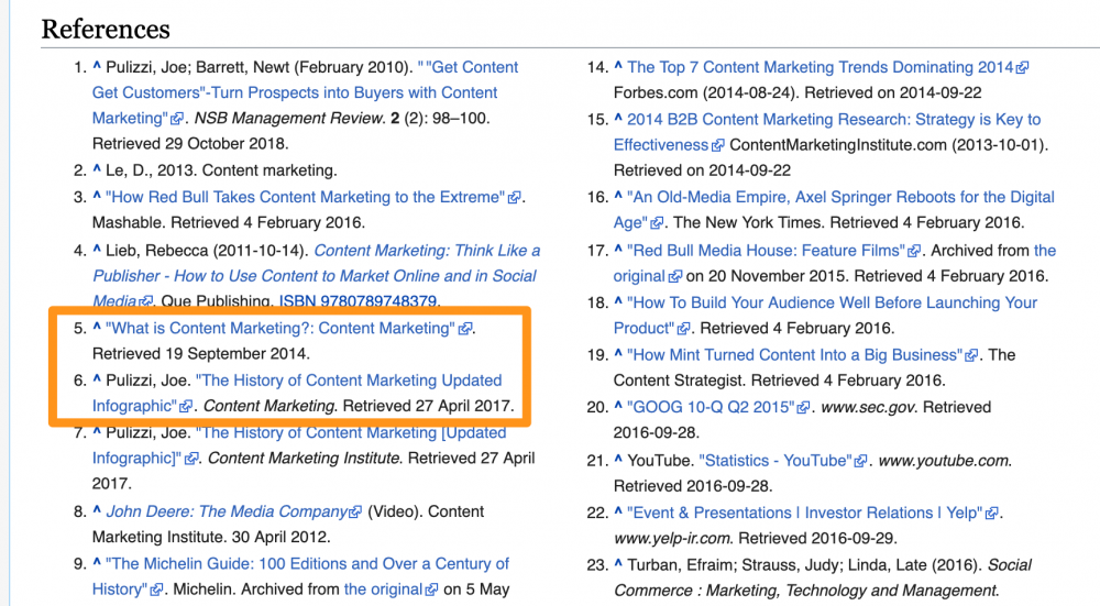 Use your content as a Wikipedia source