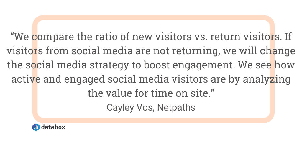 Look for traffic and engagement trends