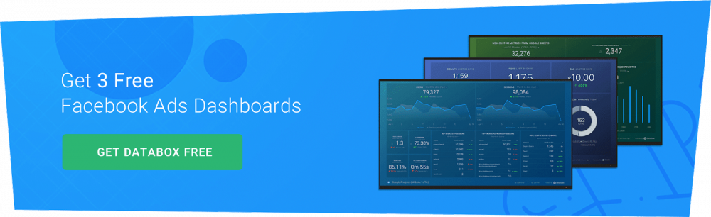 Facebook ads dashboards CTA