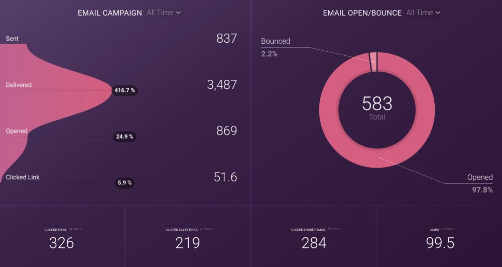 Marketo Email Marketing Dashboard