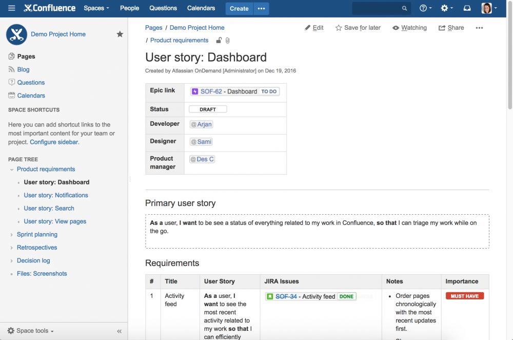 Using Confluence with Jira