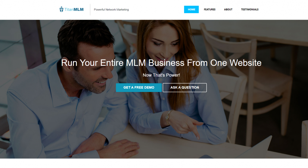 Product landing page example