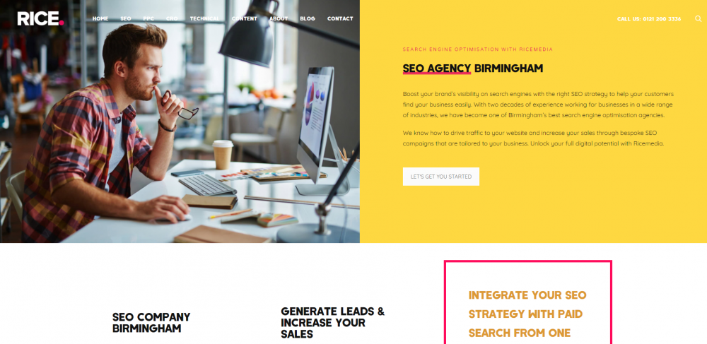 SEO agency landing page example