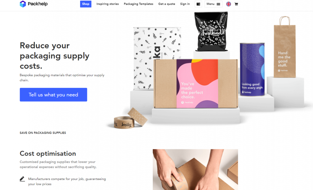 ecommerce landing page example