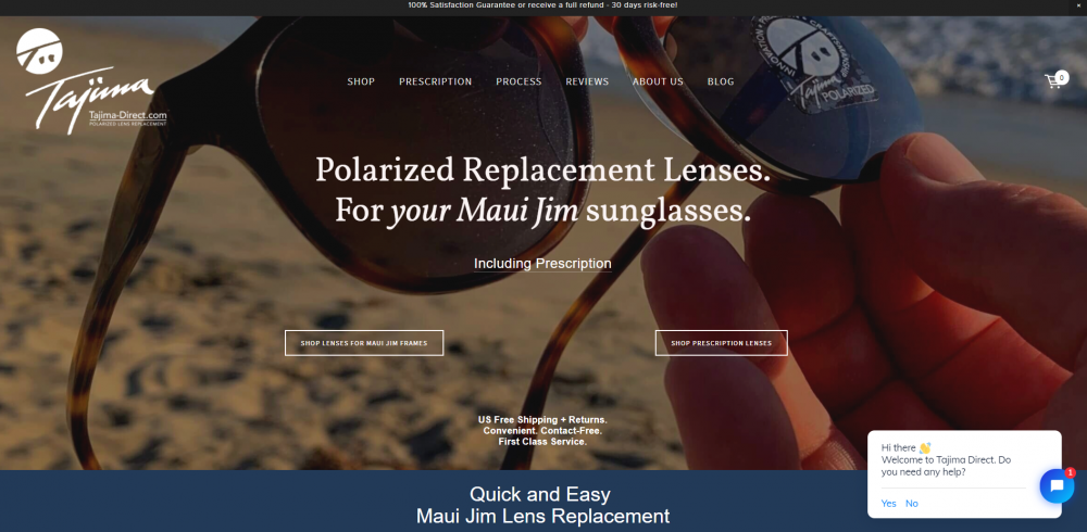 Lense replacement landing page example