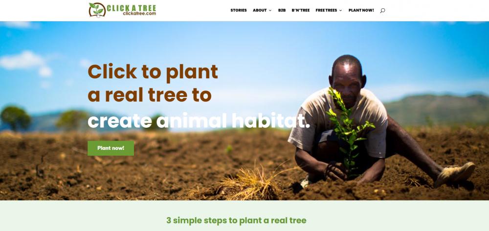 Click a Tree Homepage headline
