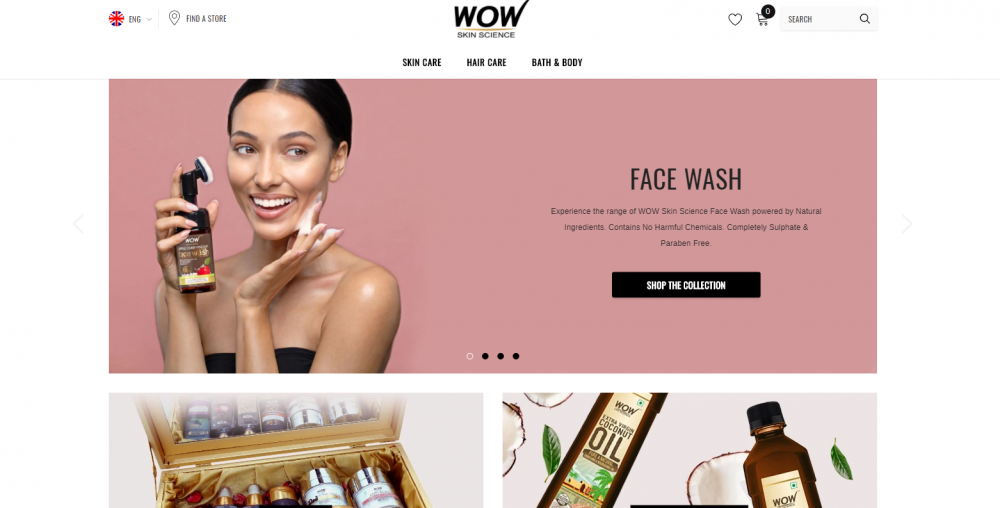 WOW Skin Science homepage