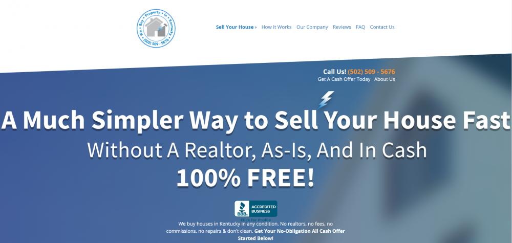 We Buy Property In Kentucky homepage headline