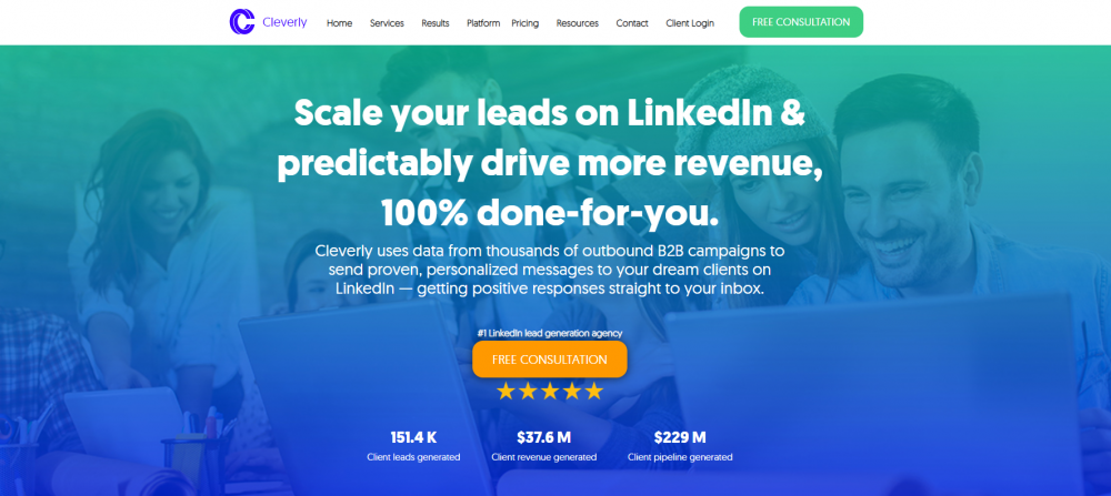 cleverly b2b lead generation tool