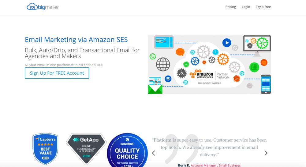 BigMailer ecommerce email marketing tool