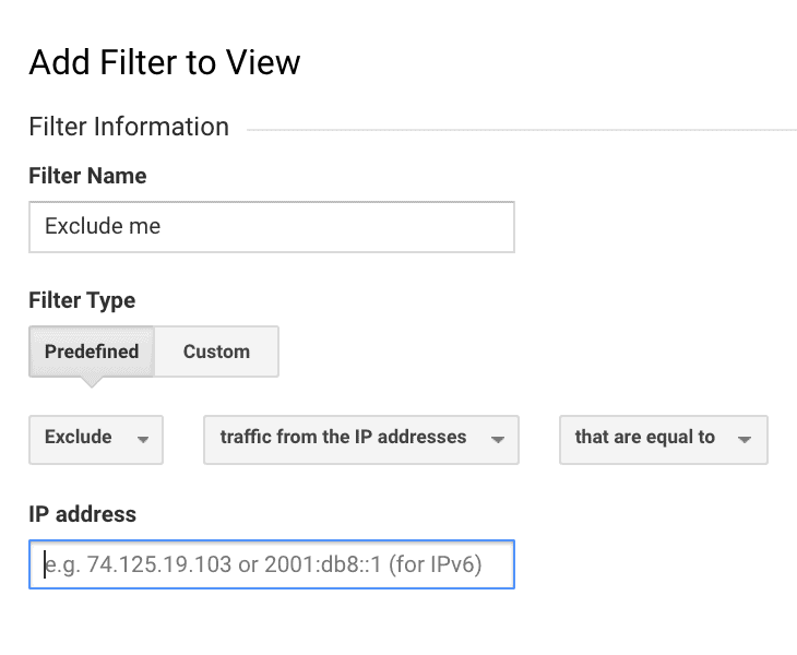 How to Set Up Filters in Google Analytics  - step 3