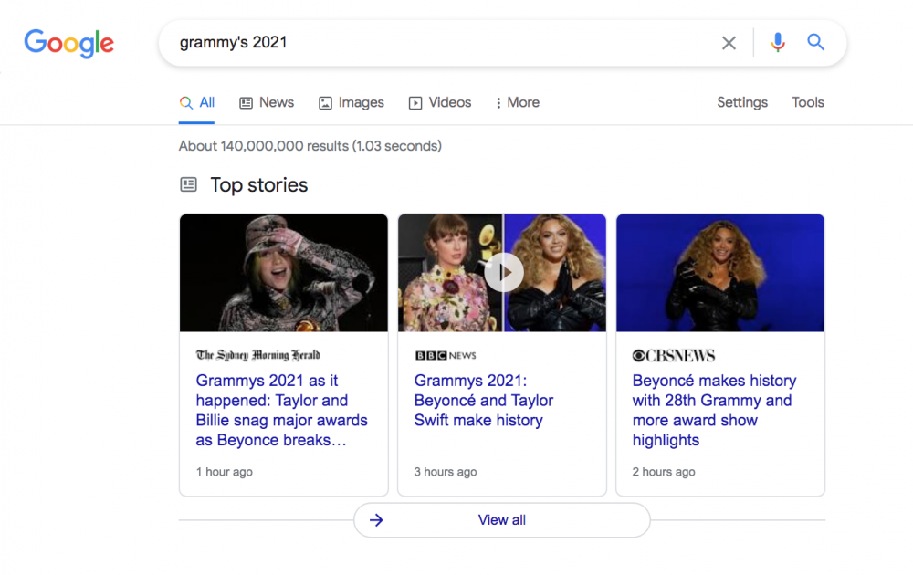 top stories example