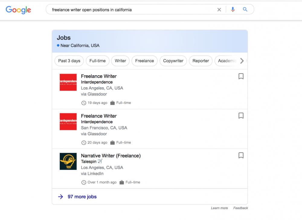 job listing example