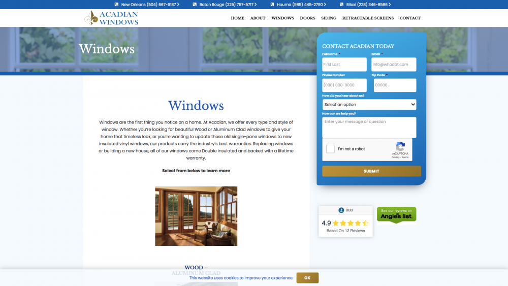 Windows product page