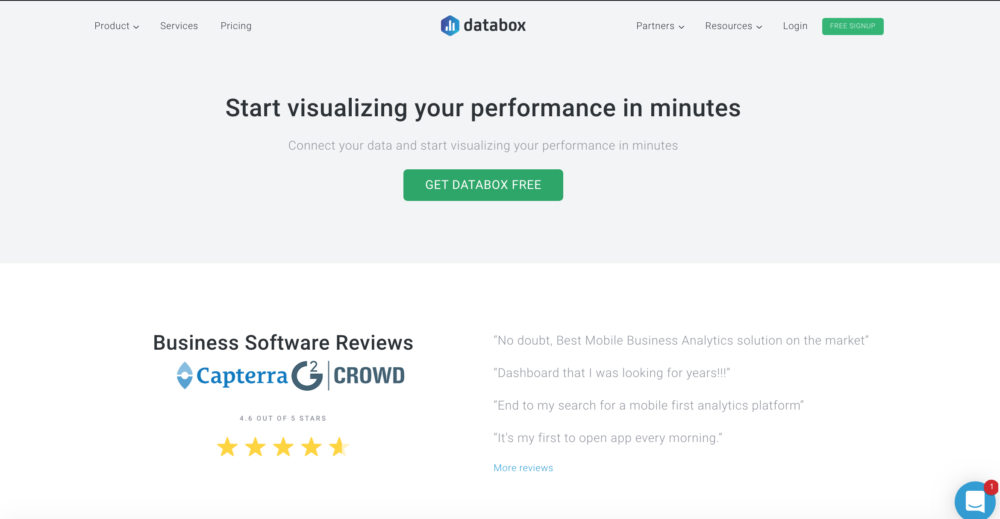 Databox CTA example