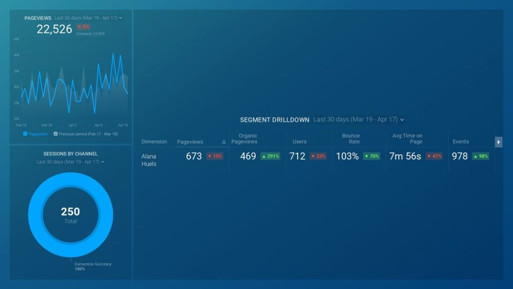 Google Analytics (Website Segment Drilldown) template