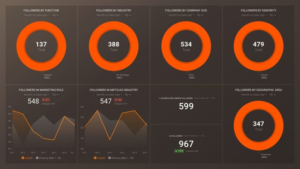 Linkedin Demographics dashboard template