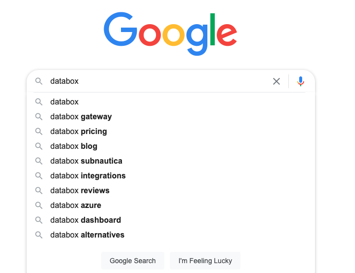 google auto-complete feature example