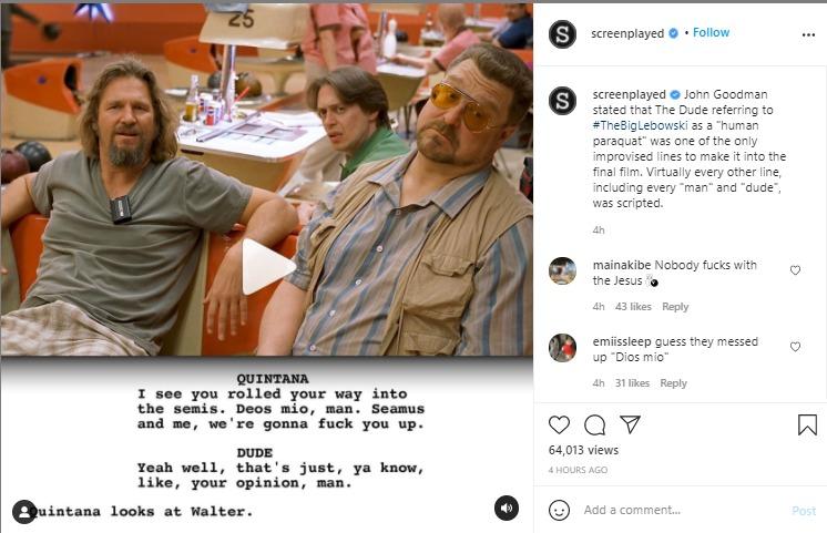 screenplayed instagram post