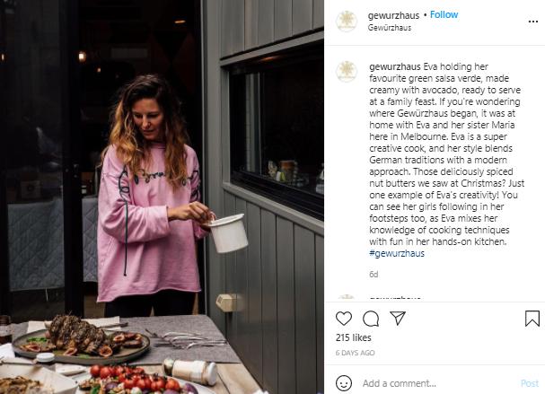 gewurzhaus instagram post