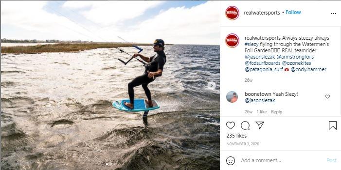 real watersports instagram post