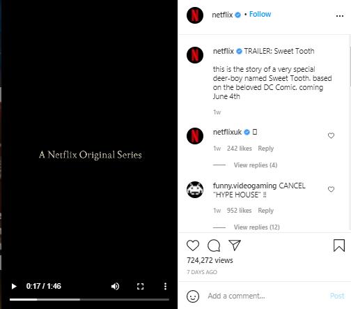 netflix instagram post