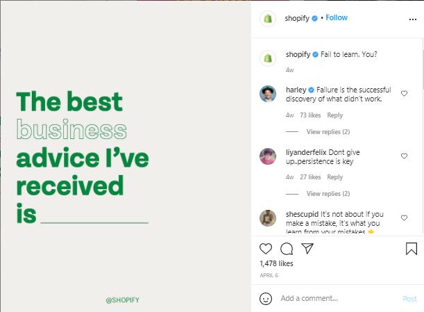 shopify instagram post