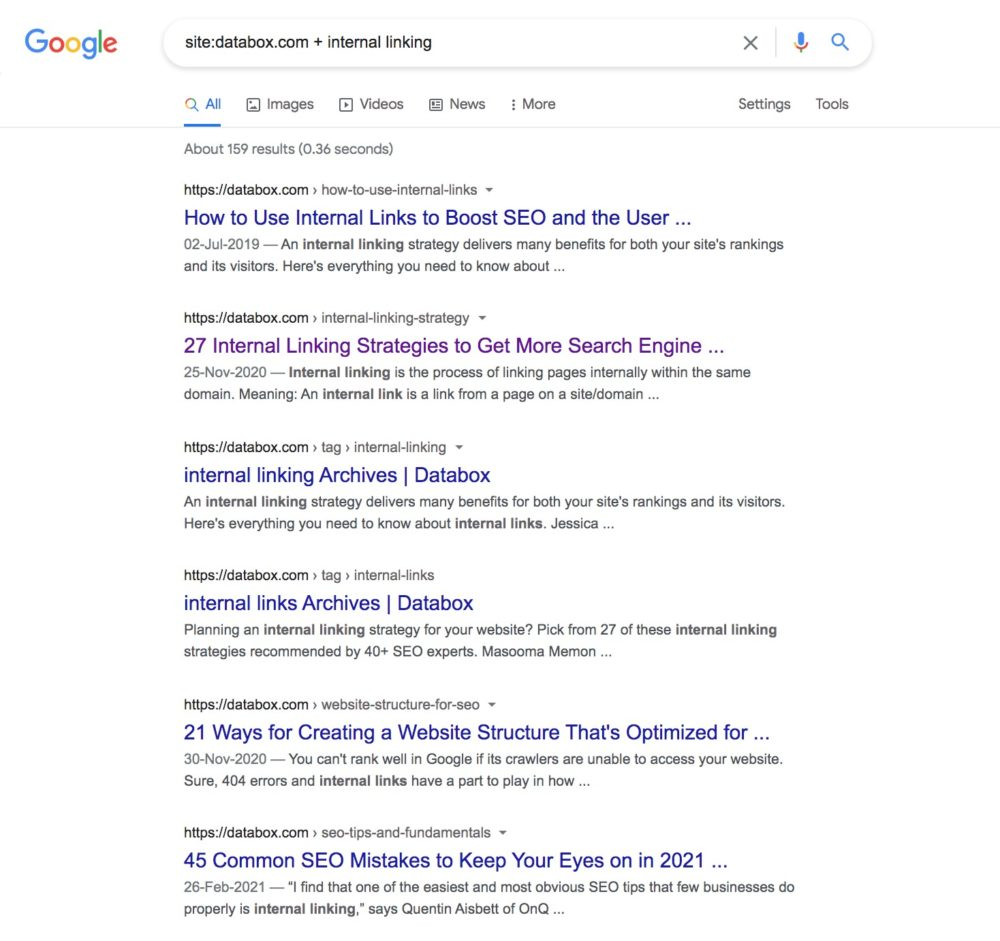 How to spot relevant internal links