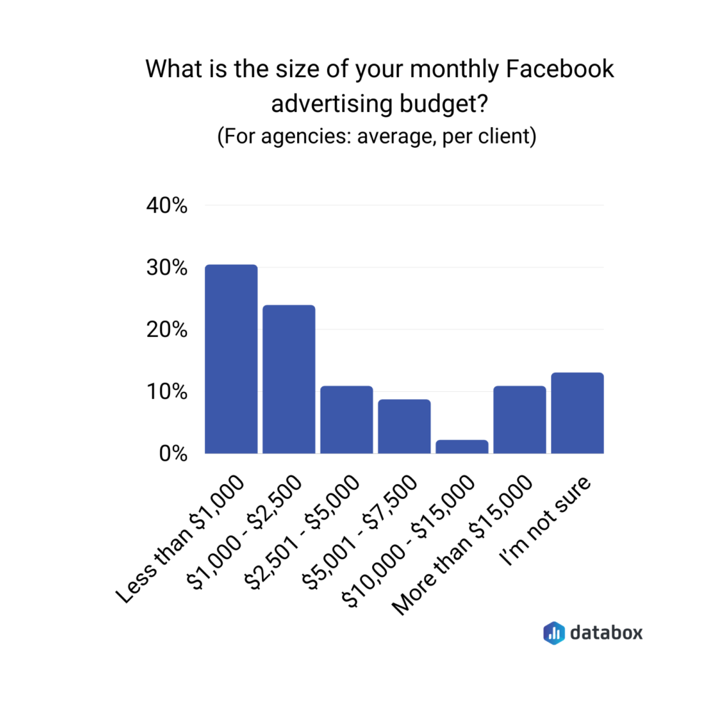 Monthly Facebook advertising budget