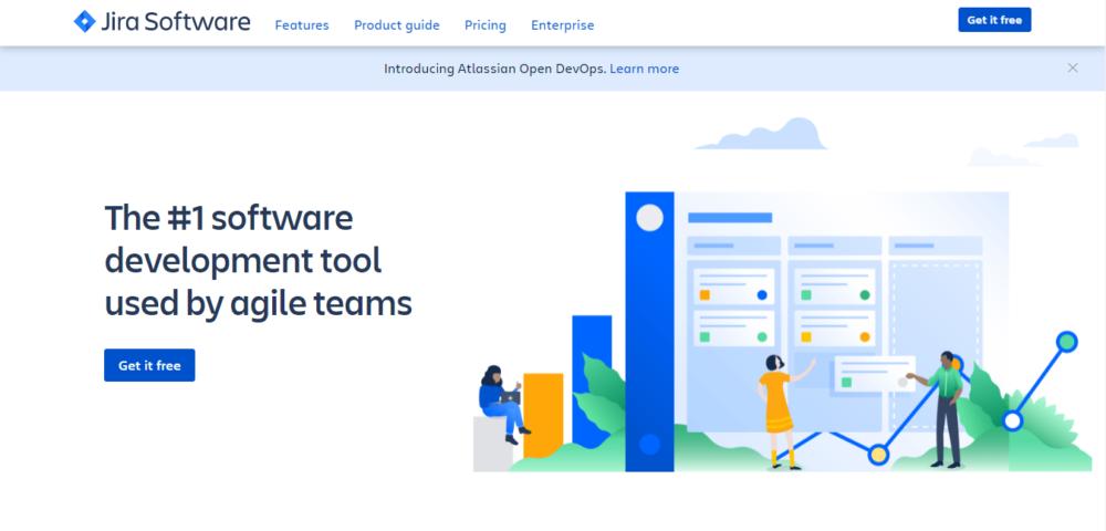 screenshot of project management tool jira