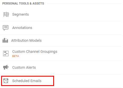 How to Change Analytics Email Reports Preferences step 1